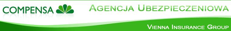 """Logo Agencja Ubezpieczeń """"COMPENSA"""""""
