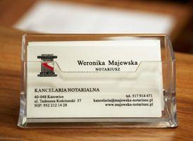 Logo Kancelaria Notarialna - Notariusz Weronika Majewska
