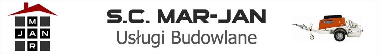 """Logo S.C. """"MAR-JAN"""" USŁUGI BUDOWLANE WOLANIN - MAŁYSZA"""