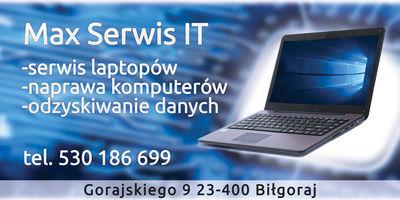 Logo Max Serwis, Andrzej Skromak