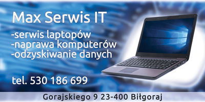 Logo Max Serwis IT, Andrzej Skromak