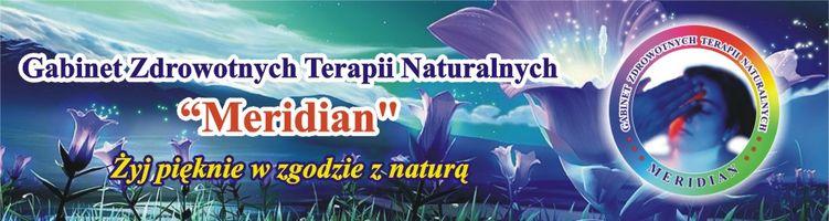 """Logo Gabinet Zdrowotnych Terapii Naturalnych """"Meridian"""""""