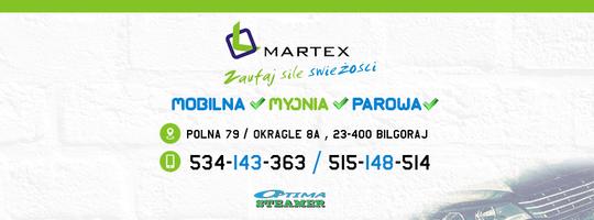 Logo MARTEX Mobilna Myjnia Parowa