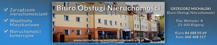 Logo Biuro Obsługi Nieruchomości Grzegorz Michalski