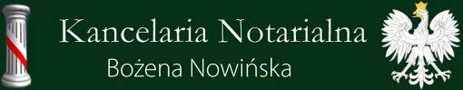 Logo Kancelaria Notarialna Bożena Nowińska