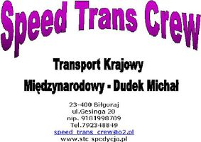 Logo Speed Trans Crew Michał Dudek